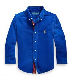 Ralph Lauren Little Boys Royal Blue Corduroy Shirt