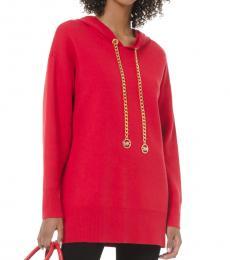 Michael Kors Red Logo Chain Hoodie