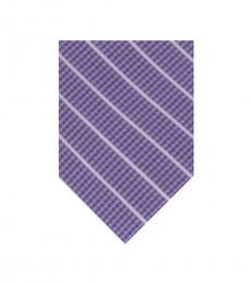 DKNY Purple Pillar Diagonal Stripe Tie