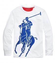 Ralph Lauren Boys Pure White Big Pony Performance T-Shirt