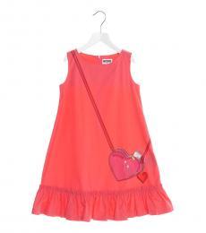 Moschino Girls Strawberry Bag Print Dress