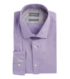 Michael Kors Lavender Non-Iron Cotton Dress Shirt