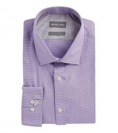 Michael Kors Lavender Non-Iron Cotton Dress Shirt
