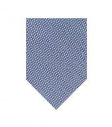 DKNY Blue Frosted Geometric Tie