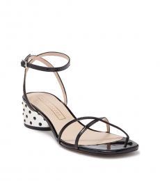 Marc Jacobs Black Sybil Leather Amkle Strap Heels