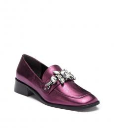 Marc Jacobs Purple Tilde Embellished Loafers