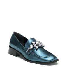 Marc Jacobs Blue Tilde Embellished Loafers