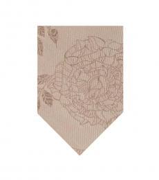 DKNY Taupe Rose Tattoo Slim Tie