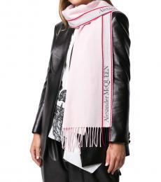 Alexander McQueen Pink Sold Logo Scarf