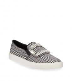 Black Multi Ermine Crystal Loafers