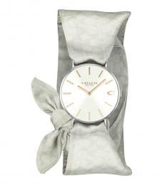Silver Scarf Wrap Watch