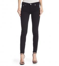 True Religion Black Mid Rise Super Skinny Jeans