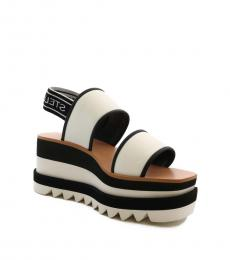 Black White Famby Sandals