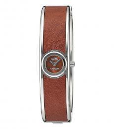 Coach Brown Bangle Stylish Watch