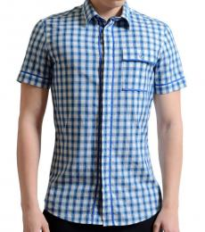 Blue Plaid Casual Shirt
