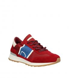 Philippe Model Red Sporty Sneakers