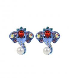 Multi color Timeless Elephant Pierced Earrings