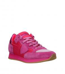 Philippe Model Fuchsia Tropez Sporty Sneakers