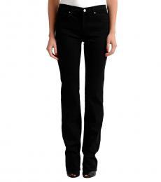 Black Straight Legs Embellished Jeans