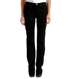 Versace Jeans Black Straight Legs Embellished Jeans