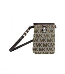 Brown Canvas Belt Bag