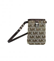 Michael Kors Brown Canvas Belt Bag