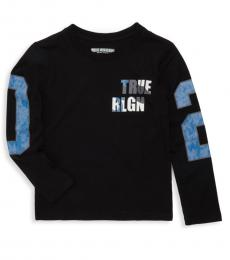 True Religion Little Boys Black Long Sleeve Graphic T-Shirt