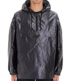 Gray Metallic K-Way Anorak Jacket
