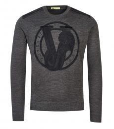Dark Grey Logo Solid Sweater
