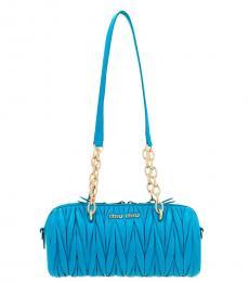 Blue Bauletto Medium Shoulder Bag