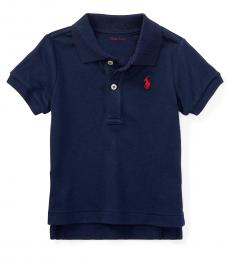 Ralph Lauren Baby Boys Navy Interlock Polo
