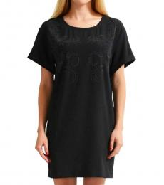 Versace Jeans Black Beads Decorated Shift Dress