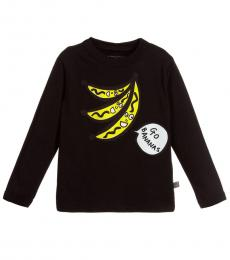 Little Girls Black Banana T-Shirt
