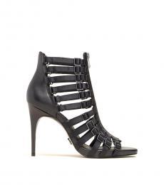 Black Kat Leather Heels