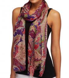 Purple Lola Paisley Wrap Scarf