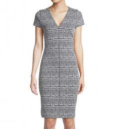 Michael Kors Black Mixed-Media Sweater Dress