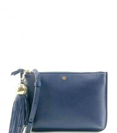 Tory Burch Navy Tassel Medium Crossbody