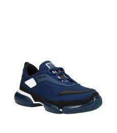 Prada Blue Side Logo Sneakers