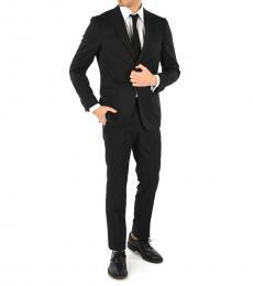 Ermenegildo Zegna Black Wool Single Breasted Suit