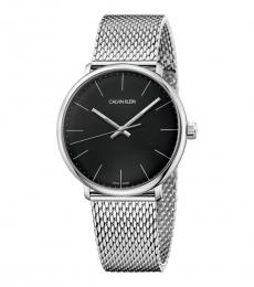 Calvin Klein Silver High Noon Black Dial Watch