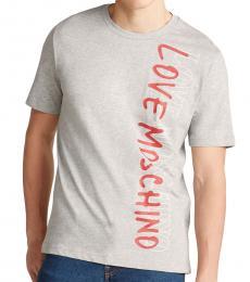 Light Grey Vertical Logo T-Shirt