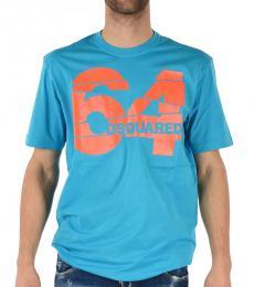 Blue Logo Print T-Shirt