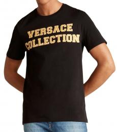 Versace Collection Black Collegiate Logo T-Shirt