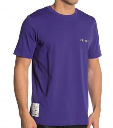 Dark Purple Psych Crew Neck T-Shirt