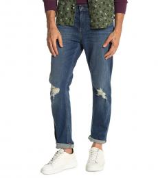 7 For All Mankind Dark Blue The Straight Jeans