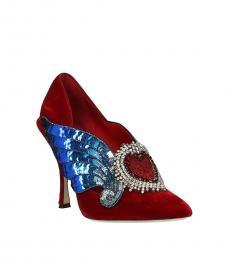Red Heart Embellished Heels