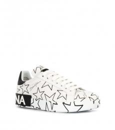 White Black Star Portofino Sneakers