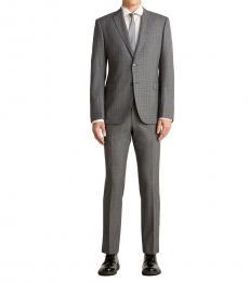 Emporio Armani Grey Slate Tonal Notch Suit