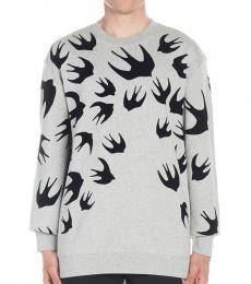 McQ Alexander McQueen Grey Swallow Sweatshirt
