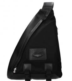 Black Triangle Large Backpack